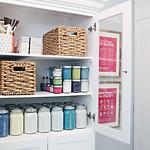 Organized Paint Cabinet